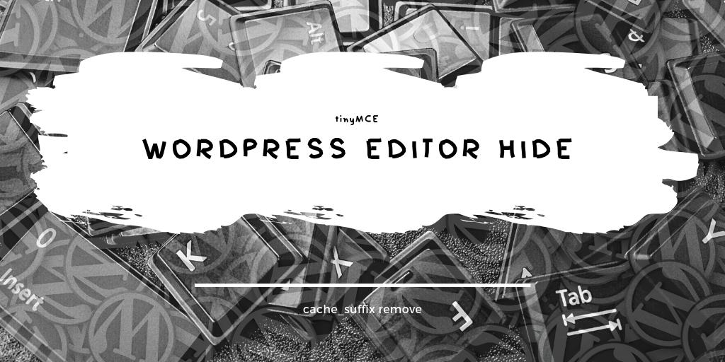 WordPressの投稿画面で本文編集部分が何も表示されない