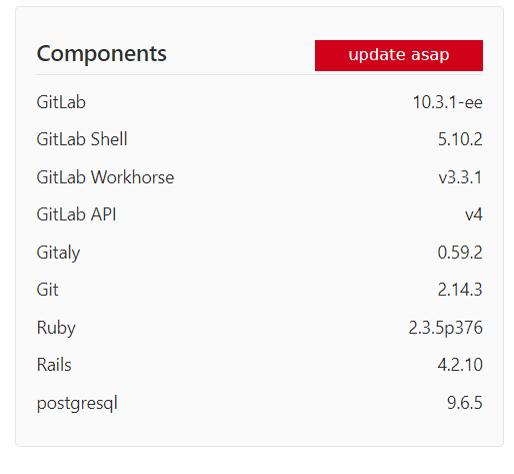 アップデート実行前のバージョン情報。10.3.1-eeと表示されています。