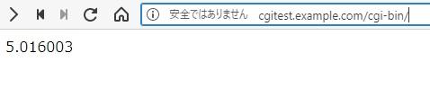 `cgi-bin`ディレクトリで動作することを確認