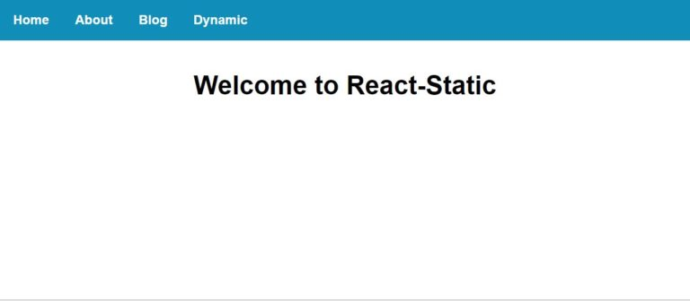 React Staticのテストサイト