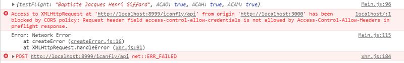 HTTPリクエストヘッダ のみ Access-Control-Allow-Credentials: true のときのログ