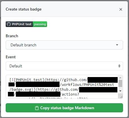 バッジの Markdownコード (Chrome拡張機能 で書き換え実施後の表示)
