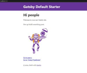 Gatsby.js のサンプルサイト