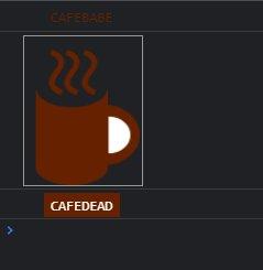 console.log に画像などが表示された